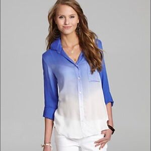 Chelsea & Violet Dip-Dye Button-Down Shirt